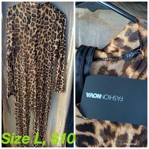 Fashion Nova cheetah print jumpsuit
